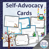 Self-Advocacy Cards for Elementary Students