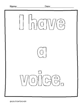 Self Advocacy Coloring Pages