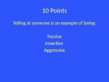 Self-Advocacy Jeopardy Game