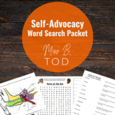 Self-Advocacy Word Search Packet for Deaf and Hard of Hearing Students