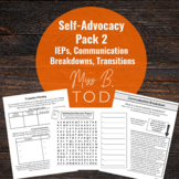 Self-Advocacy Word search Pack 2 for Deaf and Hard of Hearing Students