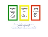"""Self-Advocating """"Help"""" Cards"""
