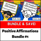 Self-Affirmation Posters and Coloring Book Bundle for Growth Mindset