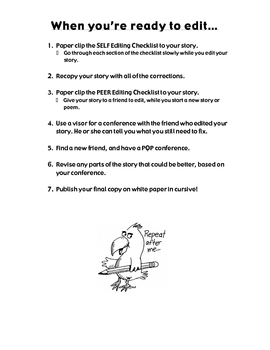 Self- and Peer-Editing Checklists