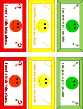 Self-Assess Table Tent cards - PNG