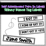 Self Assess Turn In Labels AND Dollar Spot Name Tag Labels