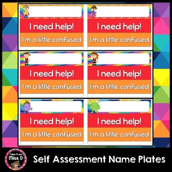 Visible Learning - Self Assessment Name Plates
