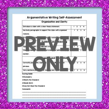 Self Assessment-Argumentative Writing