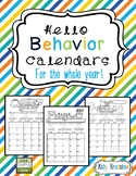 Self-Assessment Behavior Calendars- Aug-July