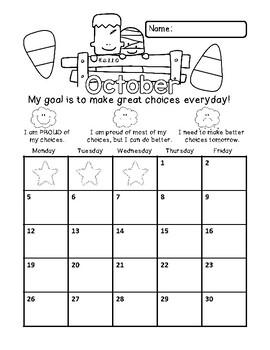 Self-Assessment Behavior Calendars- Aug-July