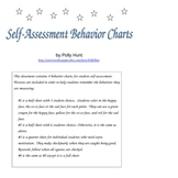 Self-Assessment Behavior Charts