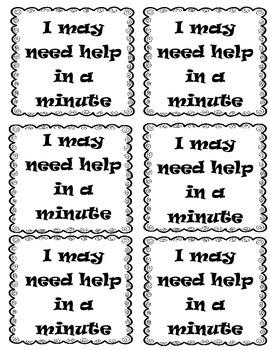 Self Assessment Cards