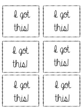Self Assessment Cards
