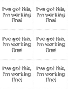 Self Assessment Cards -- 2 different styles