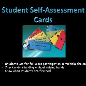 Self Assessment Cards/ Multiple Choice Cards