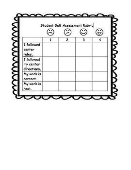 Self Assessment Center Rubrics