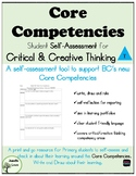 Self-Assessment: Critical/Creative Thinking Core Competency BC Curriculum