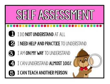Self Assessment Desk Cards
