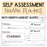 Self Assessment Desk Plates with Growth Mindset Quotes