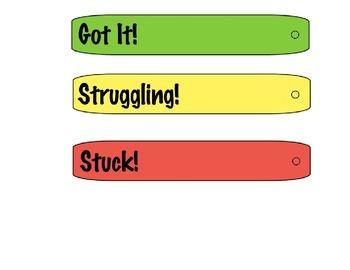 Self Assessment Desk Sticks