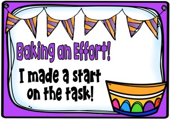 Self Assessment ~ Effort Posters and Rubric,