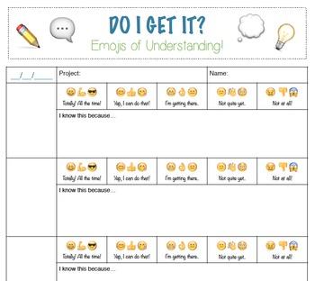 Self Assessment Emojis
