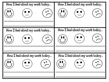 Self Assessment Exit Tickets