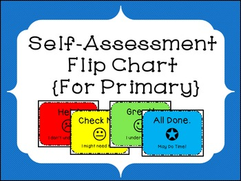 Self-Assessment Flipchart for Primary Grades