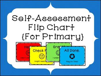 Self-Assessment Flipchart for Primary Grades