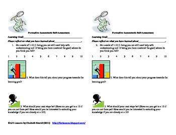 Self-Assessment Fomative Assessment Template