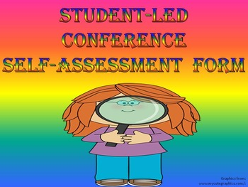 Self-Assessment For Student-Led Conferences