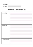 Self Assessment Form for Students