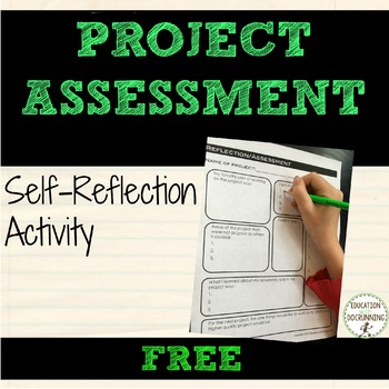 Self Reflection Assessment Graphic Organizer for Projects EDITABLE
