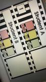 Self Assessment Name Plates (B&W Stripes) - EDITABLE