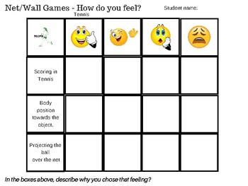 Self Assessment - Net/Wall Games using Emojis