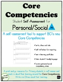 Self-Assessment: Personal/Social Core Competency BC Curriculum