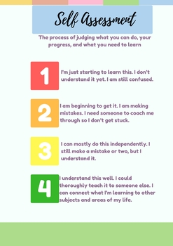 Self Assessment Poster