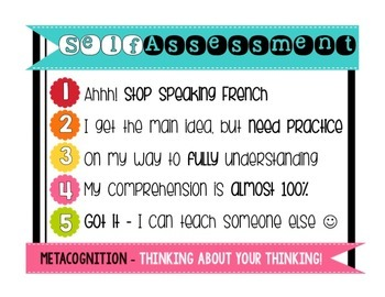 Self Assessment - Poster and Desk Tags
