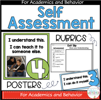 Self Assessment Posters, Rubrics, Response Cards, and EDITABLE weekly newsletter
