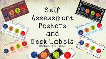 Self Assessment Posters and Desk Markers - Marzano - Perfect for Elementary