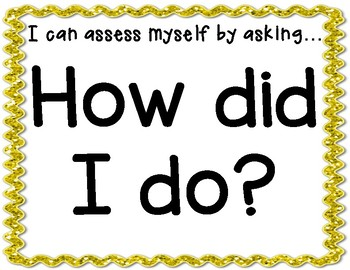 Self Assessment Posters for the Classroom ~ Back to School