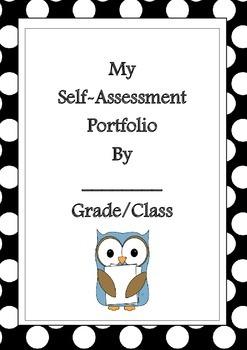 Self- Assessment Pupil Portfolio Bundle - EDITABLE