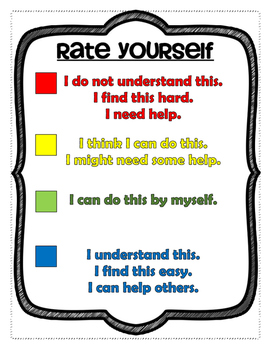 Self Assessment Rate Yourself