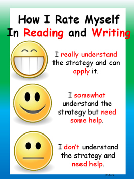 Self-Assessment Reading and Writing Anchor Chart