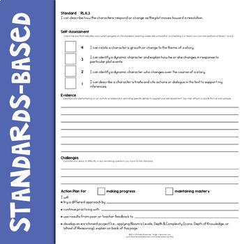 Self-Assessment Reflection Forms ELA 6th Grade