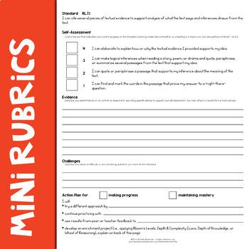 Self-Assessment Reflection Forms ELA 7
