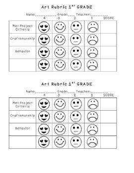 Self- Assessment Rubric Bundle 1st-5th Grade!