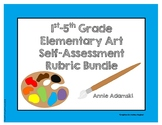 Self- Assessment Rubric Bundle 1st-5th Grade!