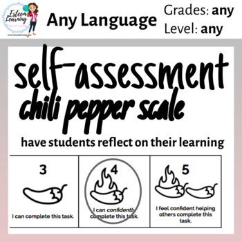 Self-Assessment Scale for Student Reflection - Chili Peppers