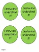 Self-Assessment Stoplight for individual and classroom use